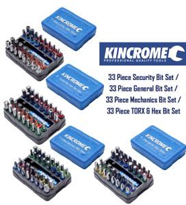 "Kincrome 33 Piece 1/4"" Security / General / TORX & Hex / Mechanics Bit Set"