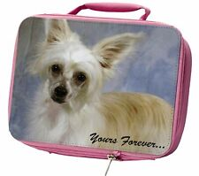 More details for chinese crested powder puff dog insulated pink school lunch box bag, ad-chc3ylbp