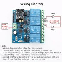 DC 5V ESP8266 WiFi 4-Channel Relay Module Wireless Transmitter For Smart Home