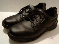 SB Skidbuster Men's 11.5 M Slip-Resistant Black Leather Oxford Work Shoes S5071