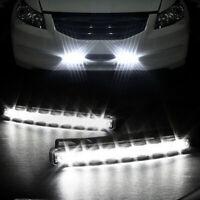 2pc 8 LED Daytime Running Lights Car Driving DRL Fog Lamp Light Super Bright 12V