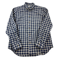 Old Navy Button Up Shirt Mens Long Sleeve Small Blue Regular Fit Plaid Casual