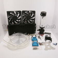 Water Cooling Kit 240 Radiator CPU GPU Block Pump Reservoir Tubing Best Value