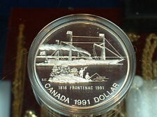 CANADA  1991  ****  PROOF CAMEO  SILVER DOLLAR   ****
