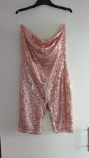 Sequined Playsuit Rose Gold Pink Kylie Jenner Replica
