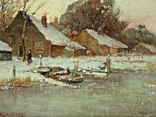 Willem H. Eickelberg (Netherlands,1845-1920) Oil Painting, Major Dutch Artist