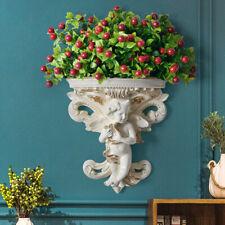 Flower Plant Flower Pot Wall Shelf Hanging Cupid Angel Plaster Art Rococo Style