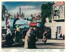 THE MOUSE ON THE MOON ORIGINAL BRITISH LOBBY CARD ROCKET SHIP IN VILLAGE