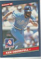 FREE SHIPPING-MINT-1986 Donruss #531 Ken Oberkfell Atlanta Braves +BONUS CARDS