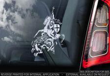 Knights Templar - Car Window Sticker - St George & The Dragon Masonic Decal -V05
