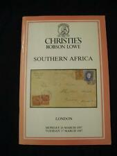 Christies Robson Lowe subasta catálogo 1987 África del Sur