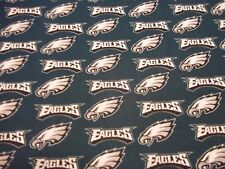 PHILADELPHIA EAGLES NFL 100%  COTTON 1 YARD PIECE NEW GREEN SUPER BOWL CHAMPS