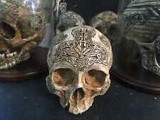 Thor Memorial Real Human Skull Replica SIGNED Viking Rune Celtic memento mori