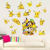 Kibi 2 Pieces Pokemon Stickers Pikachu Wall Tattoo for Children Pokemon Pikachu Wall Sticker Wall Decoration for Nursery Baby Room