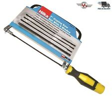 """7"""" Coping Saw Hand Saw Steel frame Soft Grip With 5 blades Wood Cutting Saw New"""