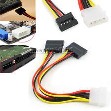 4 Pin IDE Male Molex to Dual SATA Splitter 2 Ports Female Power Adapter Cable