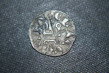 SILVER DENIER CRUSADER ROBERT of ANJOU KING of NAPLES14th KNIGHTS TEMPLAR CROSS