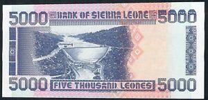 Sierra Leone P21c 5000 LEONES 27.4.1996 #G/17   ***VERY RARE DATE *** 1996 UNC.