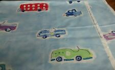 Designers Guild Vintage Fabric. Rally Racers Car Bus  Print Blue  2.6m x 54""
