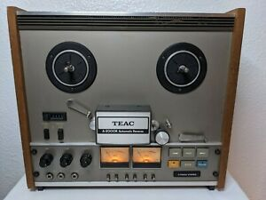 Rare Vintage TEAC A-2000R Reel to Reel Tape Player Recorder Deck Wood Sides READ