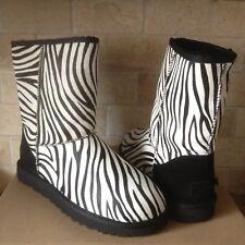 UGG Classic Short Exotic Zebra Black White Calf Hair Fur Boots Size US 9 Womens