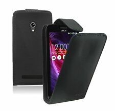 BLACK Leather Flip Case Cover Pouch for Mobile Phone Asus Zenfone 5 / A501CG