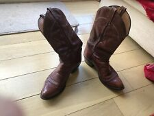 mens used cowboy boots size 9 uk