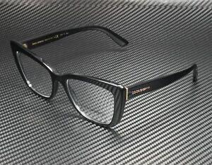 DOLCE & GABBANA DG3308 501 Black Demo Lens 53 mm Women's Eyeglasses