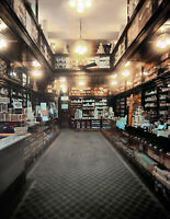 """1913 G.W. Armstrong Drug Store Vintage Photograph 8.5"""" x 11"""" Reprint Colorized"""