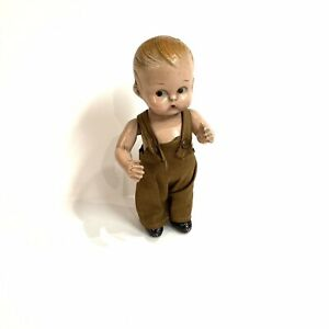 """1928 LOUIS AMBERG Body Twist 8"""" Composition Boy Doll-Marked On Back"""