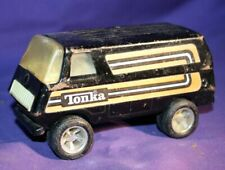 Vintage Black Tonka Van W/ Orange Stripes #55450 USA