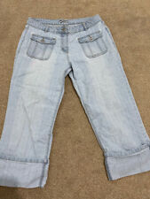 GEORGE Light blue straight leg cropped jeans - Size 16
