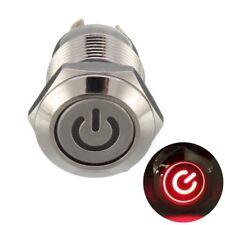 LED Druckknopf Schalter Push Button ON/OFF 12mm wasserdicht für Auto u.s.w.