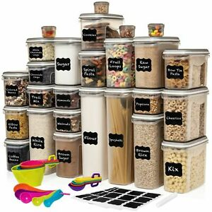 LARGEST Set of 52 Pc Food Storage Containers (26 Container Set) Airtight $90