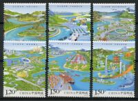 China 2018 MNH Yangtze River Economy 6v Set Fish Ships Bridges Tourism Stamps