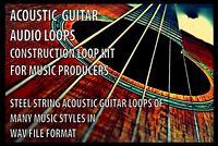 Music Samples Acoustic Guitar Construction Loop Library WAV File MAC/PC NEW PACK