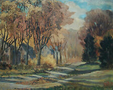 ANNE HESSE - 'Glenwood Drive' - Oil Painting on Panel - Signed - Canada - C.1956