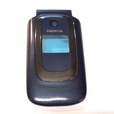 Nokia 6085 Front Housing Caller Id Lens Included Plastic Replacement Blue OEM
