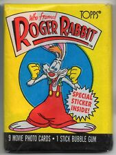 WHO FRAMED ROGER RABBIT - 1 Unopened Packet - TOPPS TRADING CARDS 1987