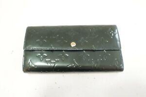 Authentic LOUIS VUITTON Vernis Porte Feuille Sarah Monogram Wallet #9991