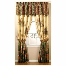 "Safari Jungle 4pc 84""x 84""DRAPES Leopard Lion Cats Animal Print WINDOW Treatment"