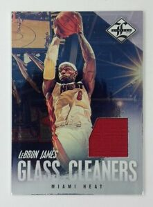 2012-13 Panini Limited Glass Cleaners Materials Lebron James #4, Insert, #d/99