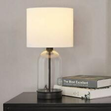 Cuaulans Living Room Bedroom Glass Table Lamp