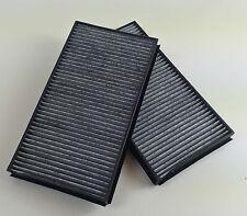 2 x filtro de carbón activado set/frase bmw 5er e60 e61 6er e63 e64 carbon Cabin filtro