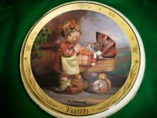 "Hummel Plate ""Doll Mother"" Timeless Virtues Collection ""Faith"" Mib"