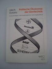 Politische Ökonomie der Gentechnik Buch Wissenschaft Ulrich Dolata