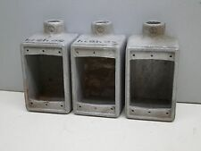 """Lot of (3) Crouse-Hinds FD-1-50 1/2"""" Unilet Cast Device Box Malleable Iron"""