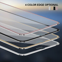 3D Full Coverage Metal Tempered Glass Screen Protector For iphone X 6 6s 7 8 8
