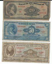 Mexico Pesos 20 50 100