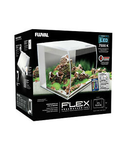 Fluval Flex Nano Aquarienset Aquarium + LED Avec Télécommande 57L Blanc 15009